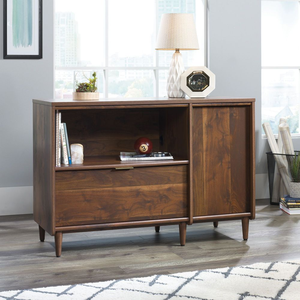 TEKNIK CLIFTON PLACE Credenza With Grand Walnut Finish Effect